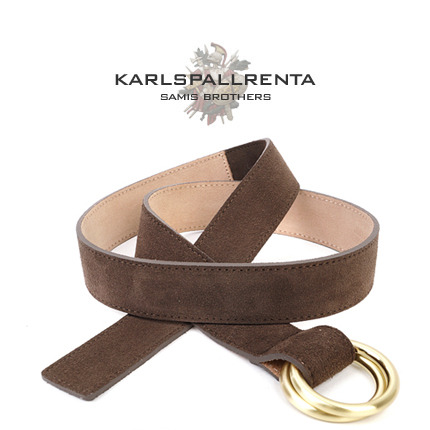 -K.S- 88742 italy real leather 스웨이드 캐주얼 벨트 (Dark Brown)