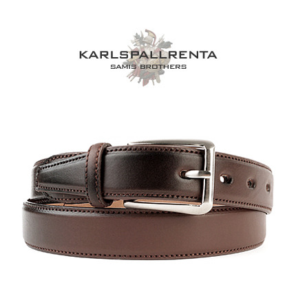 -K.S- 88773 italy real leather 리얼태닝 캐쥬얼 벨트 (Brown)