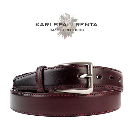 -K.S- 88775 italy real leather 리얼태닝 캐쥬얼 벨트 (Wine)