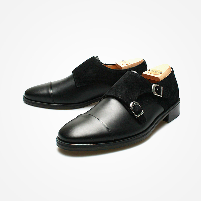 94787 Premium FA-197 Monk strap Shoes (2Color)