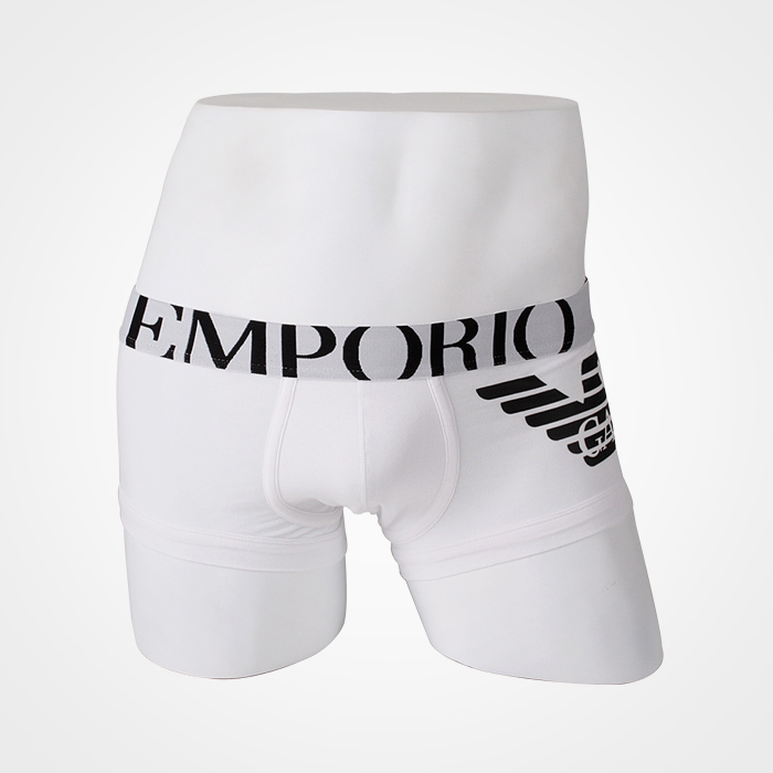 -EMPORIO ARMANI- 80324 Eagle Strech Cotton Trunk (White)