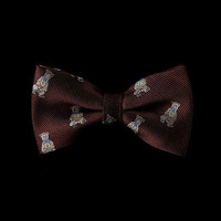 57342 bear pattern Bow Tie
