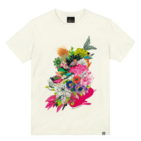 - THE SHIRTS -79660 flower_garden 라운드 반팔 티셔츠 (3Color)