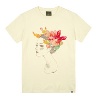 - THE SHIRTS -79672 butterfly_girl 라운드 반팔 티셔츠 (3Color)
