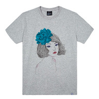 - THE SHIRTS -79673 blue_girl 라운드 반팔 티셔츠 (3Color)