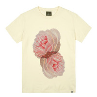 - THE SHIRTS -79680 double_flower 라운드 반팔 티셔츠 (3Color)