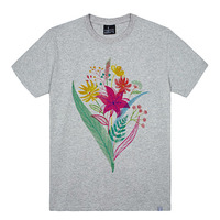 - THE SHIRTS -79700 wild_flower 라운드 반팔 티셔츠 (3Color)