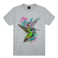 - THE SHIRTS -79703 bird_flower 라운드 반팔 티셔츠 (3Color)