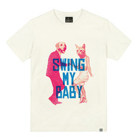 - THE SHIRTS -79719 swing_baby 라운드 반팔 티셔츠 (3Color)