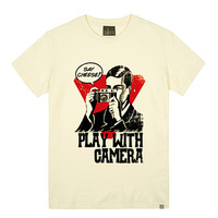 - THE SHIRTS -79729 play_camera 라운드 반팔 티셔츠 (3Color)