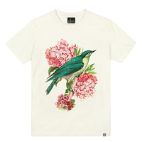 - THE SHIRTS -79731 birds_floral 라운드 반팔 티셔츠 (3Color)