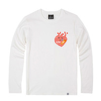 - THE SHIRTS -81015 Strong heart Long Sleeve (2Color)