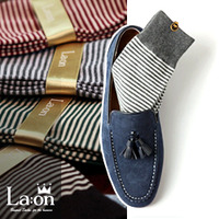 -La:on-83848 Basic Stripes Socks (4Color)