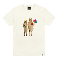 - THE SHIRTS -87832 vintage cat 라운드 반팔 티셔츠 (3Color)
