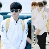 91364 TH 프리미엄 앵커나염 셔츠 (White+Black)