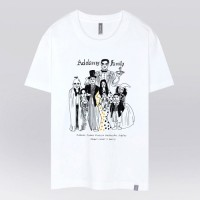 - THE SHIRTS -91403 addams family 반팔 티셔츠 (White)