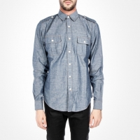 91626 SA 견장 투포켓 셔츠 (Blue)