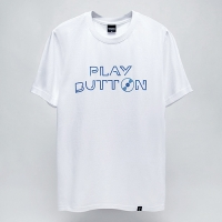- Black Skull -92021 Play button 반팔 티셔츠 (2Color)