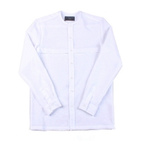 92042 절개 라운드 차이나 셔츠 (White)