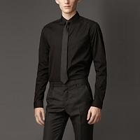 89022 B London 프리미엄 솔리드 셔츠 (Black/2Type)