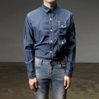 92587 스티치 트리플 포켓 셔츠 (2Color)