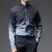 92618 그라데이션 깅엄 체크 셔츠 (2Color)
