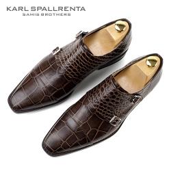 - KARL SPALLRENTA - 92873 악어패턴 프리미엄 슈즈 (Dark Brown)