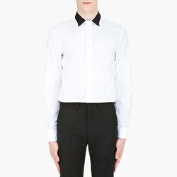 82836 프리미엄 카라 배색 셔츠 (White)