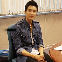 91959 PR 견장 투포켓 데님 셔츠 (Blue)