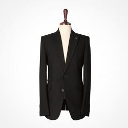 92773 브로치 샤이닝 싱글 자켓 (Black)