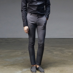 92914 보카시 패턴 슬랙스 팬츠 (Dark Gray)