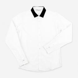93028 BO 카라 포인트 셔츠 (2Color)