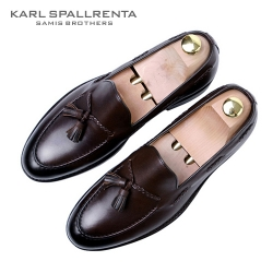 - KARL SPALLRENTA - 93162 태슬꼬임 프리미엄 슈즈 (Dark Brown)