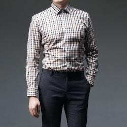 93022 No.21-B 체크 셔츠 (Beige)