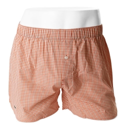 -LACOSTE- 93578 Pure Cotton Woven Boxer (Orange)