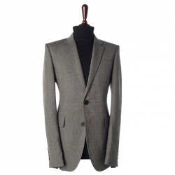 93594 글랜 체크 싱글 자켓 (Gray)