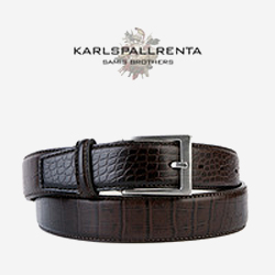 -K.S- 84211 italy real leather 크로커 리얼태닝 클래식 벨트 (Dark Brown)