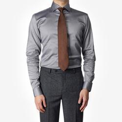 86037 No.36-a 프리미엄 헤링본 체크 셔츠 (Gray)