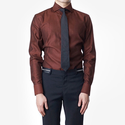86390 No.43-a 프리미엄 솔리드 기모 셔츠 (Brown)