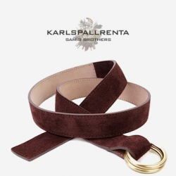 -K.S- 88740 italy real leather 스웨이드 캐주얼 벨트 (Wine)