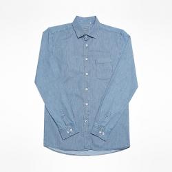 94164 베이직 스트라이프 데님 셔츠 (Blue)