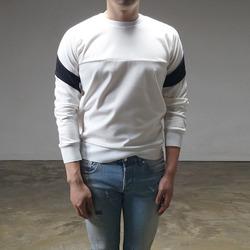 94831 모던배색 파이핑 라인 맨투맨 티셔츠 (3Color)