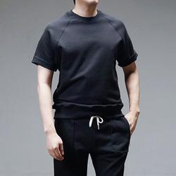 95050 SA 컷팅 슬리브리스 스웨트 티셔츠 (Black)