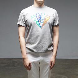 95120 다이아몬드 나염 하프슬리브 티셔츠 (3Color)