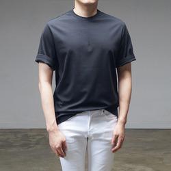 95196 배색 네오프렌 하프슬리브 티셔츠 (3Color)
