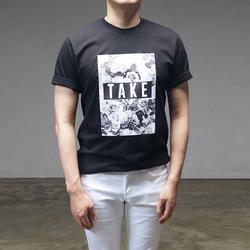 95235 필름 플로럴 나염 하프슬리브 티셔츠 (3Color)