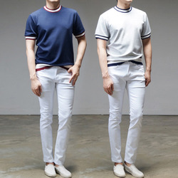 95265 SY 시보리 니트 하프슬리브 티셔츠 (2Color)