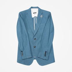 95326 베일리 린넨 펠리컨 브로치 싱글 자켓 (Sky Blue)