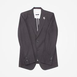 95328 베일리 린넨 펠리컨 브로치 싱글 자켓 (Dark Gray)