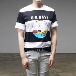95424 하프 나염 단가라 하프슬리브 티셔츠 (3Color)